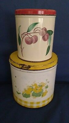 Vintage Tin Canisters