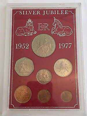 1977 Great Britain Silver Jubilee Set With Box And Paper