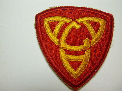 A     WW 2 U S Army A A Command Central Cut Edge Snow  Back Patch