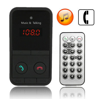 AU Wireless Bluetooth Car Kit MP3 Player FM Transmitter TF USB Charger Handsfree