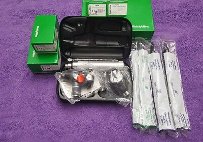 New Welch Allyn Diagnostic Set! Otoscope/ophthalmoscope Rechargeable Handle