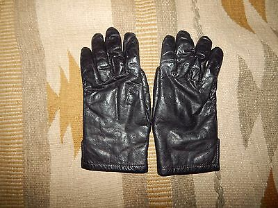 Grandoe Women's S/M Black Leather ~ Angora Rabbit Fur Lined Driving Gloves