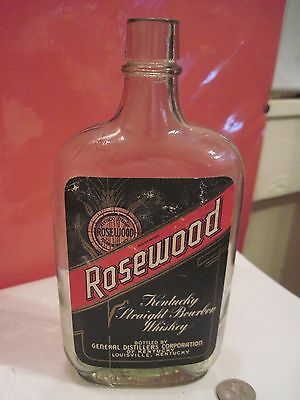 Vintage Pint Rosewood Kentucky Straight Bourbon Whiskey Louisville KY Paper Labe