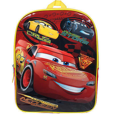 "Disney Cars 3 15"" Backpack Lightning McQueen Cruz Jackson Storm Kids School NEW"
