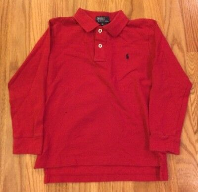 Ralph Lauren Polo 100% Cotton Long Sleeve Polo Shirt Boy's Size 6