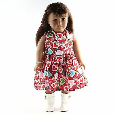 "Handmade dolls' Clothes fashion  Dress for 18"" American Girl Doll  b577"