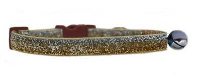 "SILVER CHAMPAGNE GOLD SPARKLE      ""  safety kitten cat collar  3 sizes"