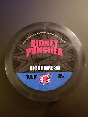 Nichrome 80 Spools by Kidney Puncher 1000' 36g