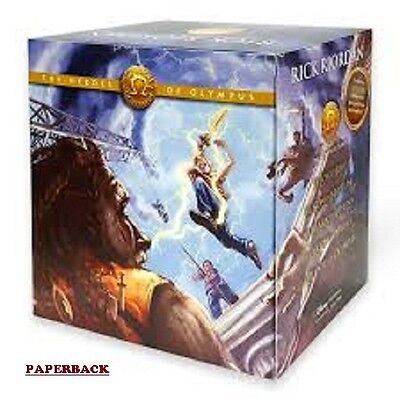 The Heroes of Olympus Paperback Boxed Set by Rick Riordan (Free shipping)