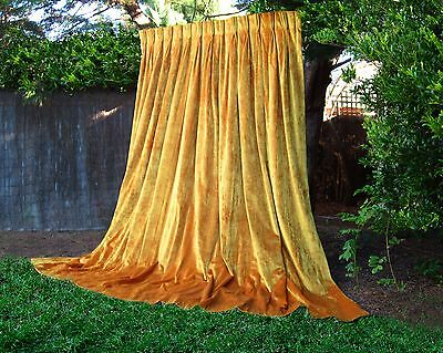Huge Super-Thick Heavy Uv Genuine Vintage German Velvet Curtains Portierre Xx-L