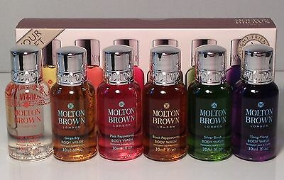 Molton Brown - 6 Variety of Scents Shower Gel 30ml -Travel Gift Set ( Brand New)