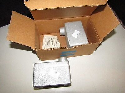 Lot Of 2 New Crouse Hinds Fda1 1/2In Single Gang Device Box Condulet