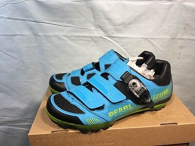 Pearl Izumi X-Project 3.0 Mountain Bike Shoes Electric Blue/Lime green Size 43