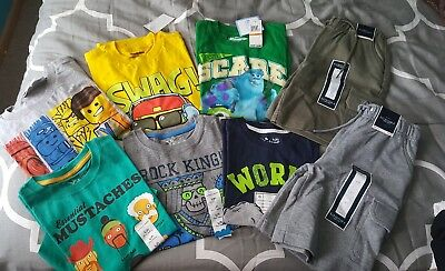 Boy's Clothing Lot Of 8~Includes 6 Shirts And 2 Pairs Of Shorts~Size 7~Nwt