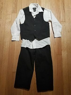 boys 3 piece suit black and white 5T