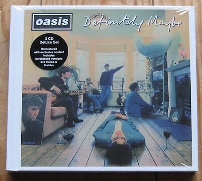 oasis - definitely maybe - 3 CD Deluxe Set - SEALED - 2014 Big Brother Ltd