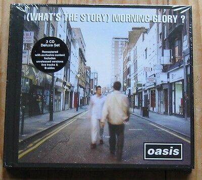 oasis what's the story morning glory 3 CD Deluxe Set SEALED 2014 Big Brother Ltd
