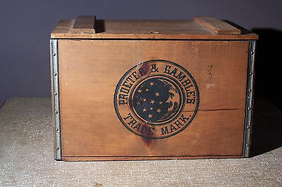 Vintage Procter & Gamble Ivory Soap Wooden Crate w/ Lid Advertizing Collectable