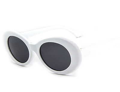 Clout Goggles Rapper Glasses Sunglasses Fancy Dress White Oval Shades Grunge