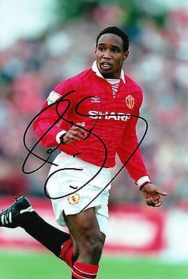 Paul Ince Signed 12X8 Photo MANCHESTER UNITED AFTAL COA (9068)