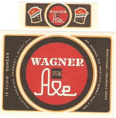 Wagner Brewing Special Ale label with neck IRTP U# Miami FL