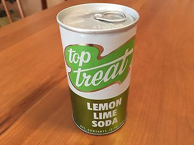 Top Treat Lemon Lime - 60's Vintage Soda Can