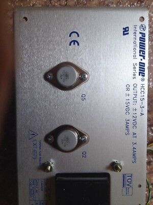 Power One HCC15-3-A Linear Power Supply 12VDC 3.4A Or 15VDC@3A Used/Excellent