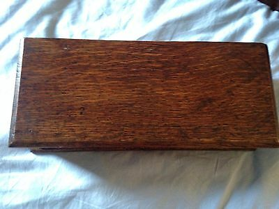 Solid oak antique glove box