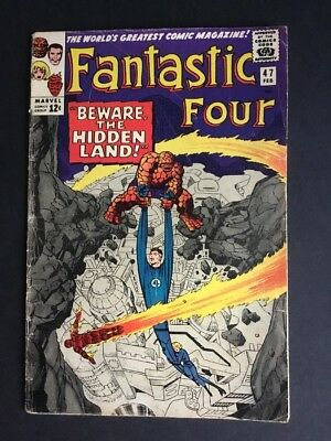 Fantastic Four #47 (1966) First Maximus The Mad Marvel Comics Inhumans Imax