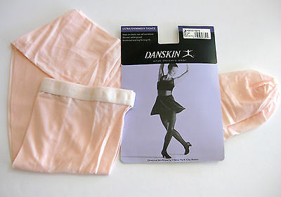 Danskin Tights Size B Footed Theatrical Shimmery Pink Adult Womens Style 1331