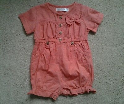 Baby girls Broidery Anglaise romper 6-9 months M&Co
