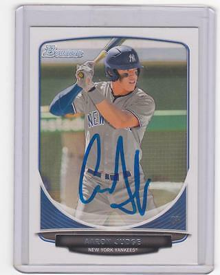 AARON JUDGE Signed / Autograph/ Auto 2013 BOWMAN DRAFT CARD RC ROOKIE