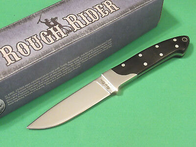 "ROUGH RIDER RR1009 Small Hunter Black wood full tang knife 6 7/8"" overall NEW!"