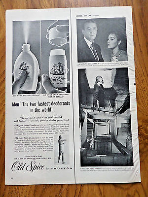 1958 Old Spice Shulton Ad  Spray & Stick Deodorant Now in Plastic