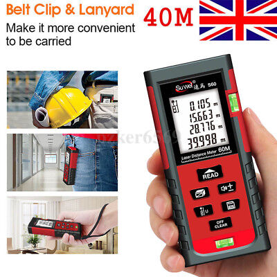 40m Digital Laser Distance Meter Range Finder Measure Tape Diastimeter Handheld