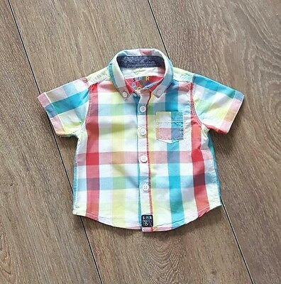 Baby Boys Check Shirt Age 0-1 Month