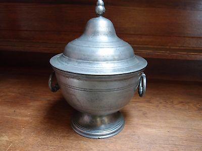 Large French Pewter Urn Shaped Tureen With Lid, One Of A Very Near Pair