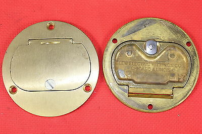 2  Lew Electric Co.  Brass Receptical/ outlet  Floor Covers