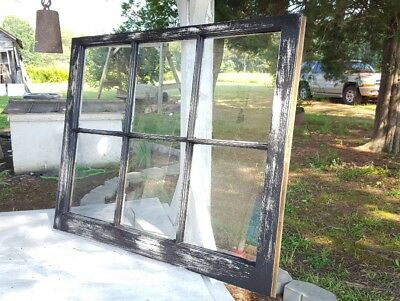 VINTAGE SASH ANTIQUE WOOD WINDOW PICTURE FRAME PINTEREST 36x28 RUSTIC DISTRESSED