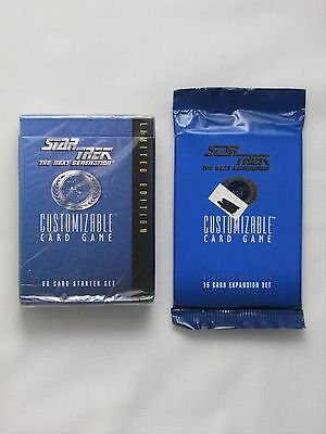Star Trek Tng Ccg Limited Edition Black Border One Starter And One Booster Pack