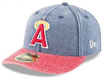 3132fcf20190b1 Official MLB Los Angeles Angels Bro Cap New Era 59FIFTY Low Profile Fitted  Hat