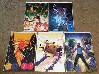 POWER RANGERS #5 Very Rare Variant Cover Collection FEP Boom Saban