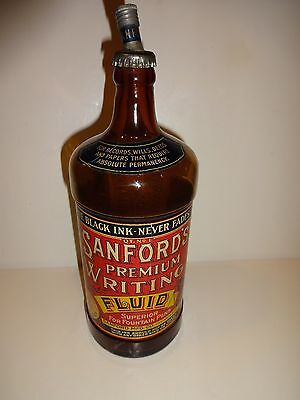Early Sanfords Ink Bottle Vintage Advertising