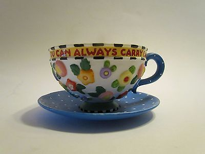 Mary Engelbreit Decorative Cup and Saucer with Tea Bag