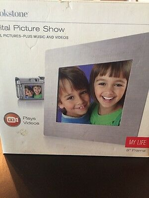 New! Brookstone Digital Picture Show My Life 8″ Frame