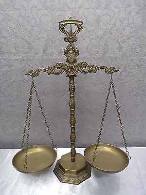 Antique French Brass Apothecary Pharmaceutical Scale