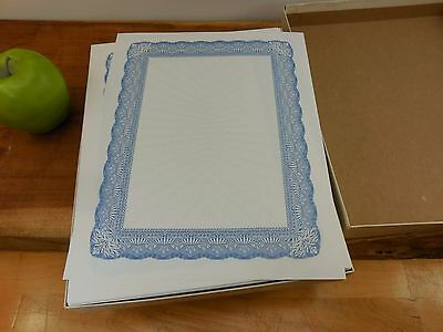 Gilbert Nue-Tech 25% Cotton Blank Award Certificates - Box Ream Blue Border