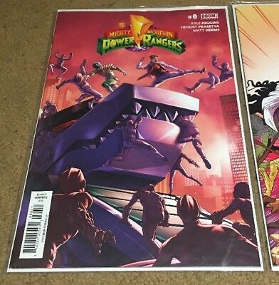 POWER RANGERS #8 Very Rare Variant Cover Collection FEP Boom Saban