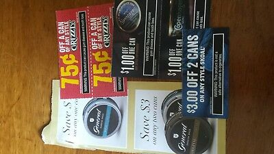 tobacco coupons dip chew  20.00 worth