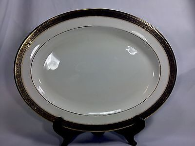 "Huge 16"" ROYAL DOULTON china ROCHELLE H5024 pattern Oval Serving Platter Gold"
